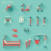 stock photo of crippled  - medical hospital equipment for disabled people - JPG