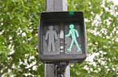 Green Traffic Light Signal Sign In Street