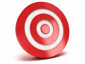 3D Red Target