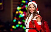 Santa Claus woman portrait