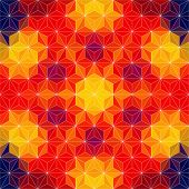 Vector Abstract Mosaic Orange Pattern