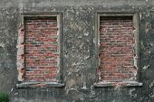 Bricked Up Windows In Old Building