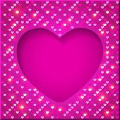 Valentine's Day bright frame
