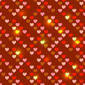 Valentine's Day bright seamless hearts