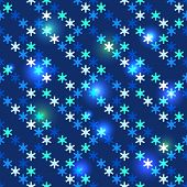 Christmas bright seamless snowflakes