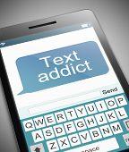 Text Addict Concept.
