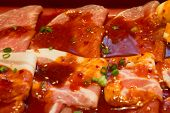Raw Marinated Beef