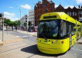 Modern tram, Nottingham.