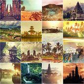 Indonesia theme collage