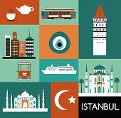 Symbols of Istanbul. Vector
