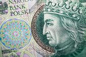 stock photo of zloty  - Polish paper money or banknotes - JPG