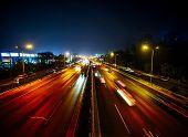 Road At Night In Beijing