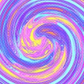 Pastel Colored Twirl Background - Pink, Blue And Yellow