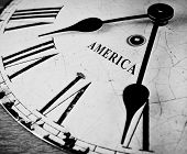 American Black And White Clock