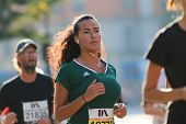Young Beautiful Latin Woman Running