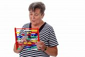 Senior Woman With Abacus