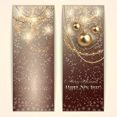 Vector abstract Christmas and New Year Greeting or Invitation