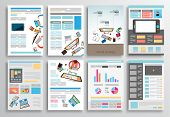 foto of web template  - Set of Flyer Design - JPG