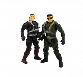 Toy military soldiers.