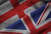 Flags Of Uk And England On Grunge Texture