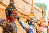 Giant Guardian In Wat Phra Kaew Temple ,bangkok,thailand