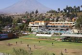 Football Pitch at Club Internacional Arequipa, Peru
