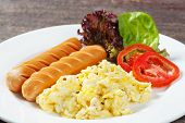 Sausages And Scrambled Egg