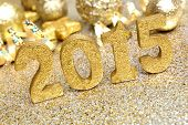 2015 golden New Years Eve decor