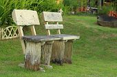 Bench Chair In A Garden At The Park