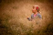 Little girl in the high grass