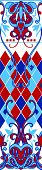 Seamless pattern with graphic elements