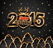 2015 New Year and Happy Christmas background for your flyers, invitation, party posters, greetings card, brochure cover or generic banners.