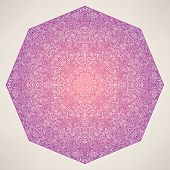 Purple Octagon Abstract Pattern