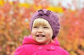 image of dimples  - a baby girl smiling with dimple cheeks - JPG