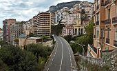 Monaco - Overpass Among The Houses And Cliffs
