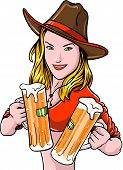 Cowgirl With Beer