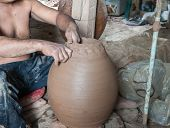 image of molding clay  - The process of molding clay into various shapes - JPG