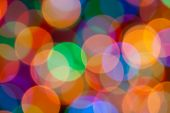Blurring Abstract Circular Lights Bokeh  Colour Background