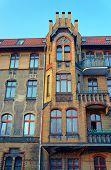 image of art nouveau  - Clinker on the facade of the Art Nouveau building in Poznan - JPG