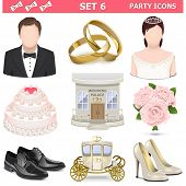 pic of solemn  - Wedding icons Set 6 including groom - JPG