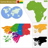 image of guinea  - Administrative division of the Republic of Guinea - JPG