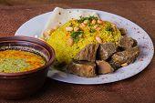 image of arabic  - Pilaf cooked in Arabic - JPG