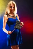 stock photo of night gown  - Fashion elegant evening outfit - JPG