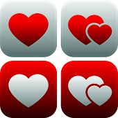 picture of valentine heart  - Eps 10 Vector illustration of Heart icon set - JPG