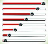 picture of potentiometer  - Eps 10 vector illustration of Vertical sliders adjusters or loading bars - JPG