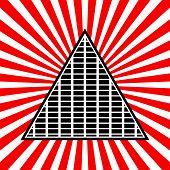 foto of triangular pyramids  - Eps 10 Vector Illustration of Symbolic Pyramid Graphics - JPG