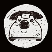picture of toy phone  - Doodle Toy Phone - JPG