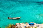 picture of phi phi  - the beautiful andaman sea seen from phi phi island thailand - JPG