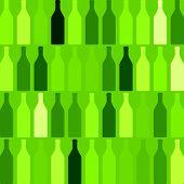 stock photo of bottles  - Background with bottles seamless  - JPG