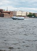"image of hydrofoil  - Мotor ship ""Meteor"" on the Neva River - a river passenger hydrofoil - JPG"